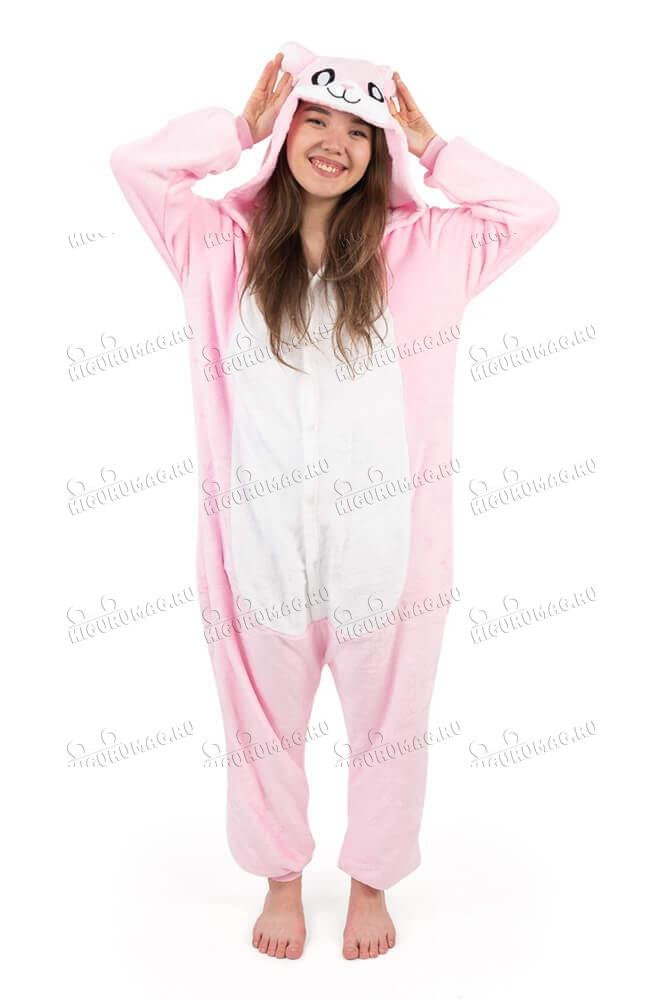 Кигуруми детский Розовый Кролик