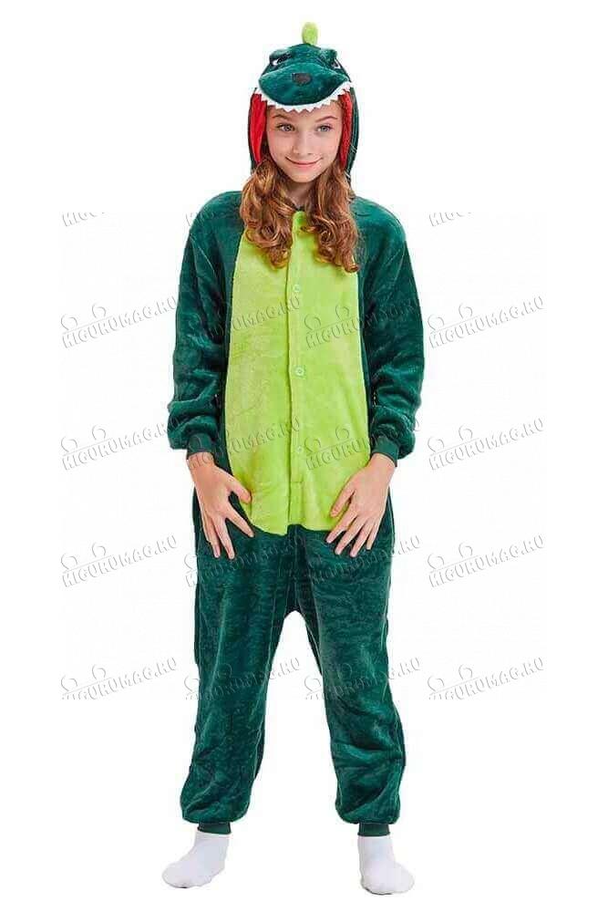 Кигуруми Зеленый динозавр