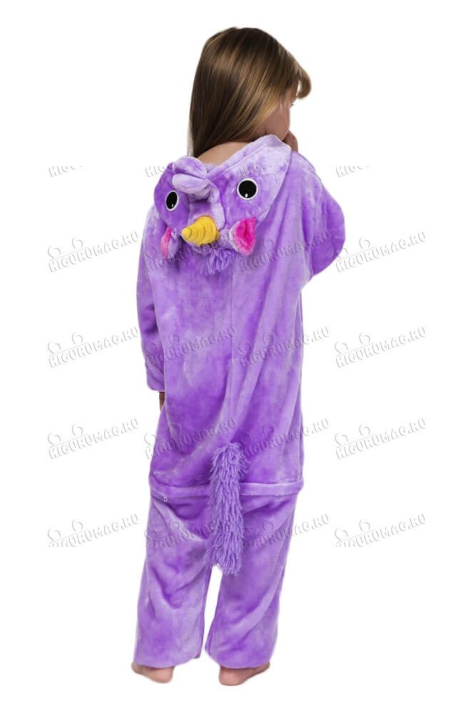 Кигуруми детский Единорог Фиолетовый - 7