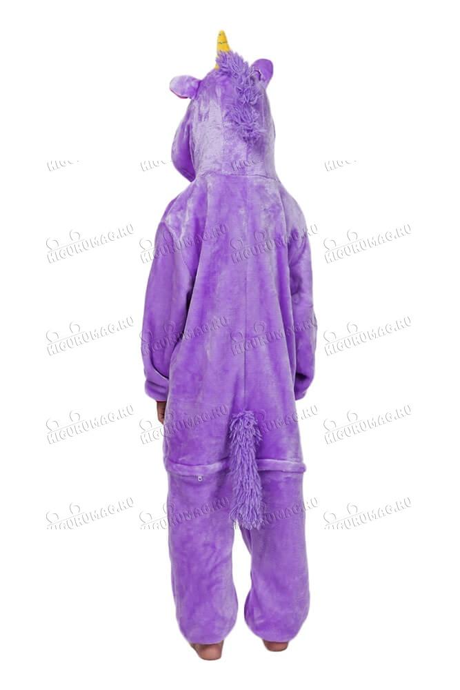 Кигуруми детский Единорог Фиолетовый - 8