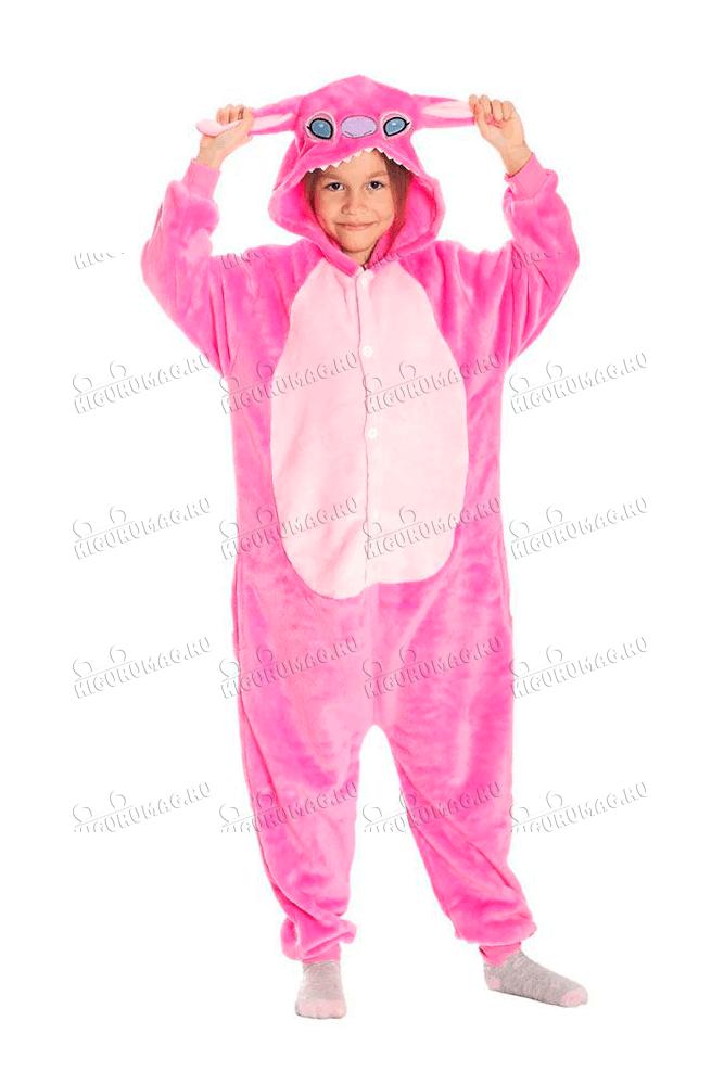 Кигуруми детский Розовый Стич