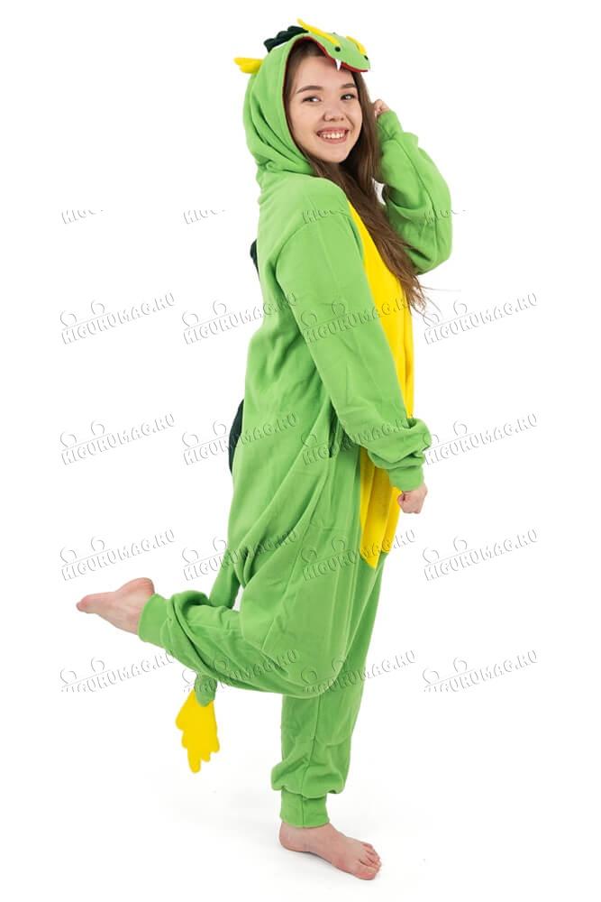 Кигуруми Дракон зеленый - 4