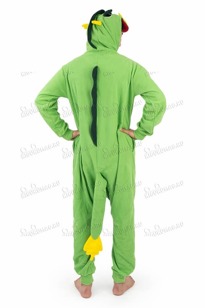 Кигуруми Дракон зеленый - 11