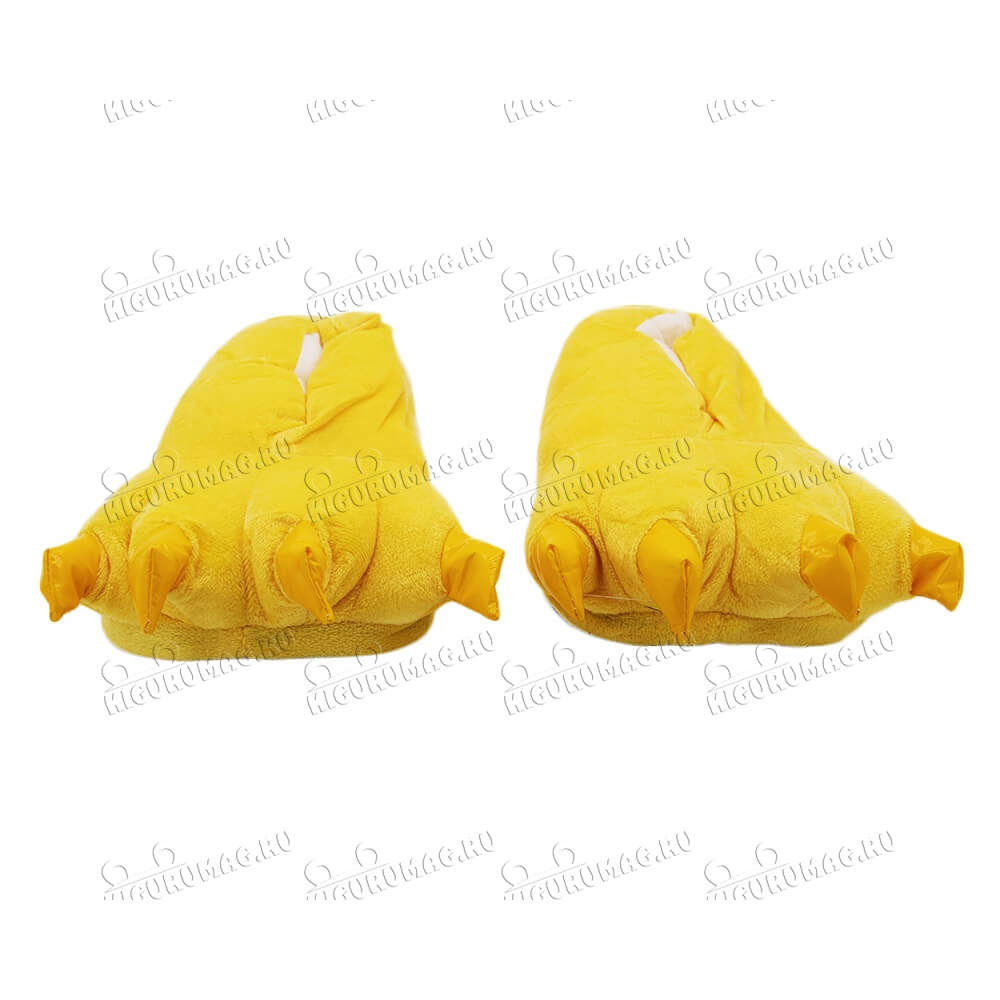 Тапки Лапки желтые M, 35-40 размер - 6